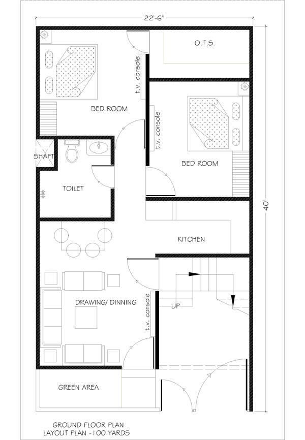 100 yard house