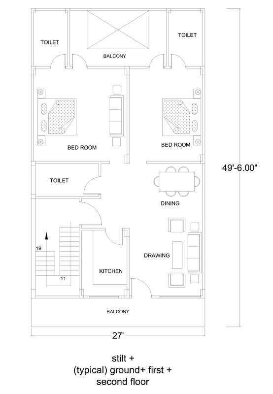 27x50 House Plans House Plans