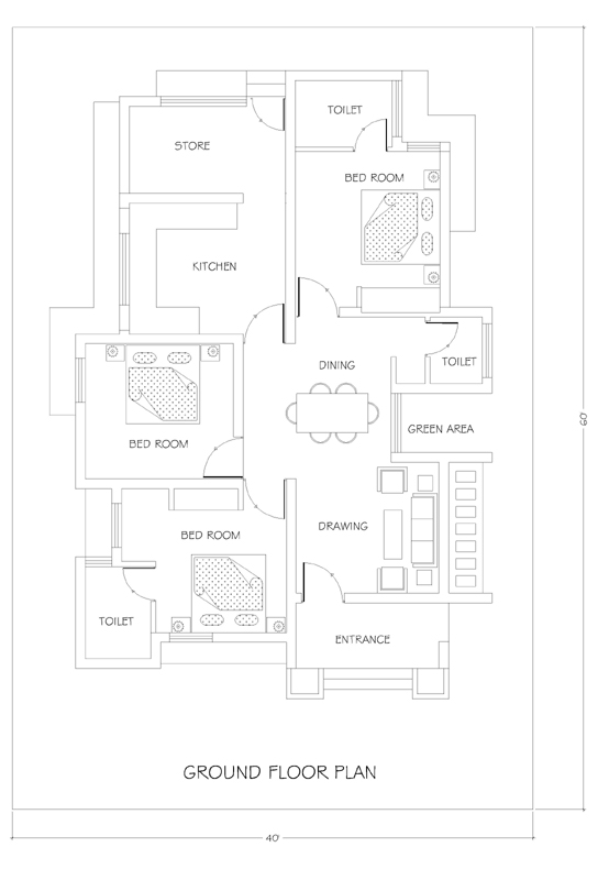 40x60 house plan for your dream house house plans for 40x60 floor plans