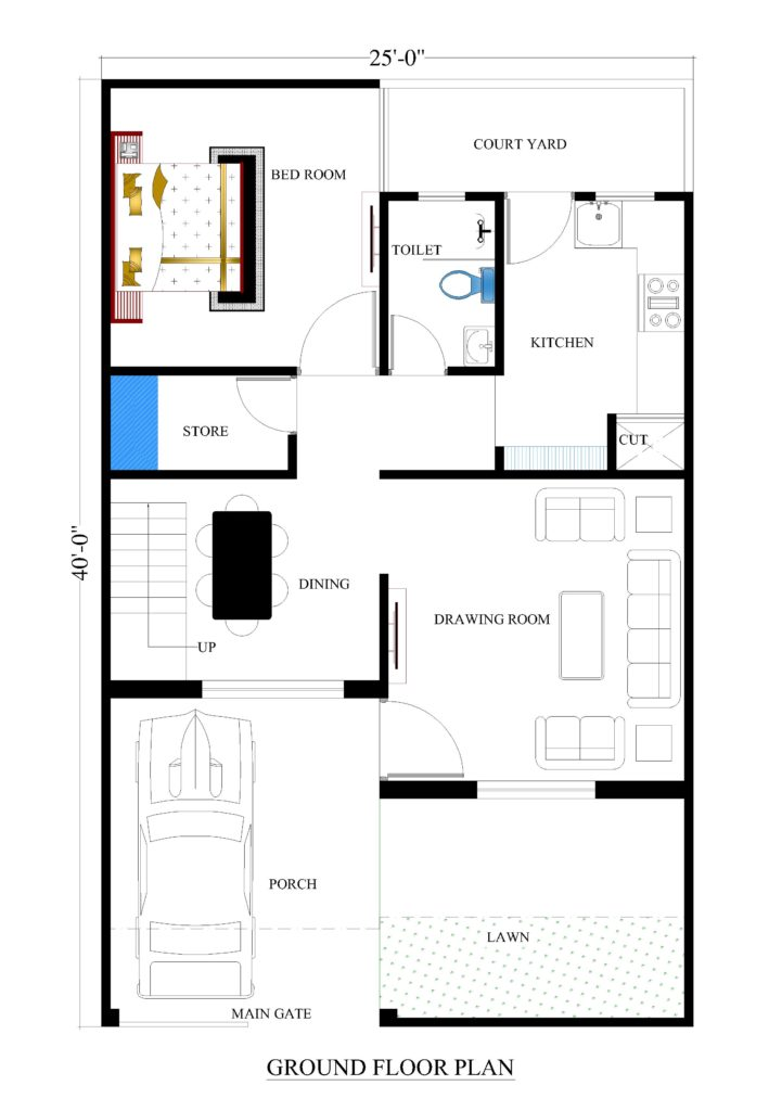 25x40 house plans for your dream house house plans for Make your floor plan