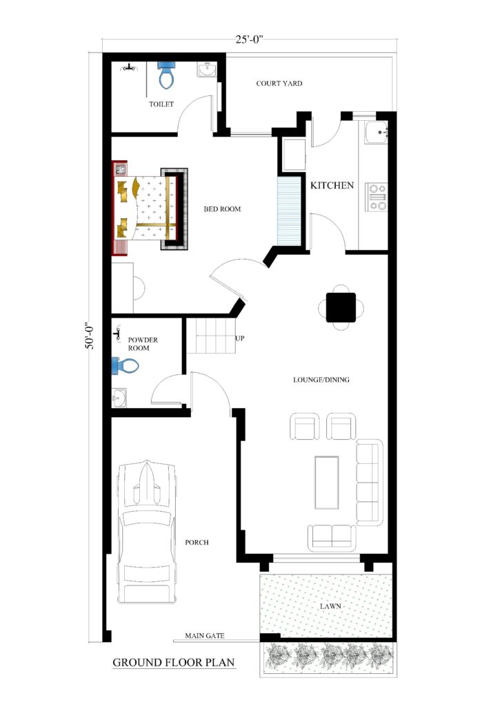 25x50 house plans for your dream house house plans House building plans