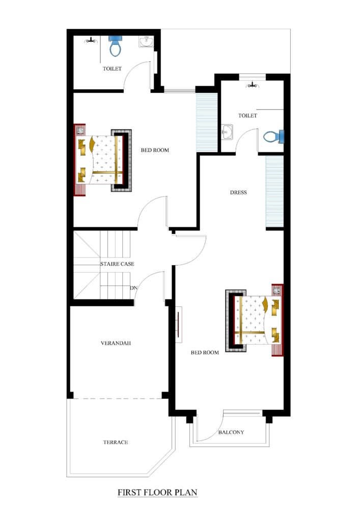 25x50 house plans for your dream house house plans for Dream floor plans