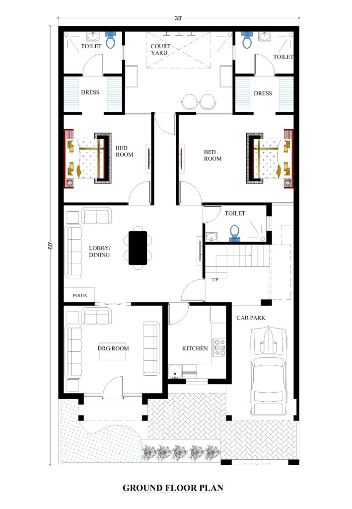 33X60 house plans for your dream house - House plans