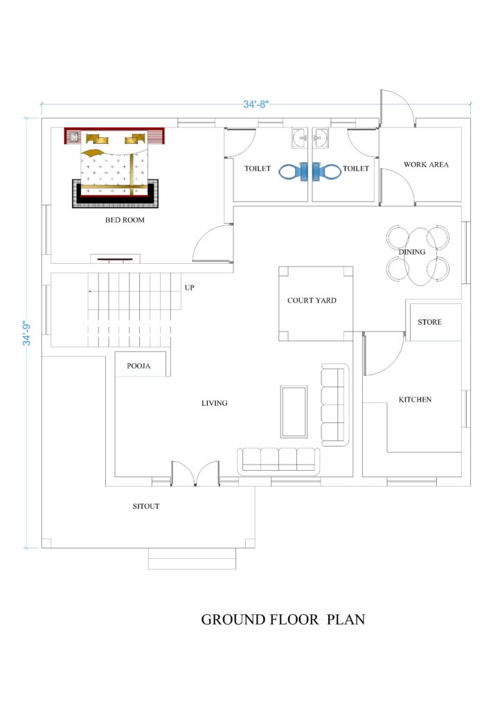 34x34 House Plans For Your Dream House House Plans