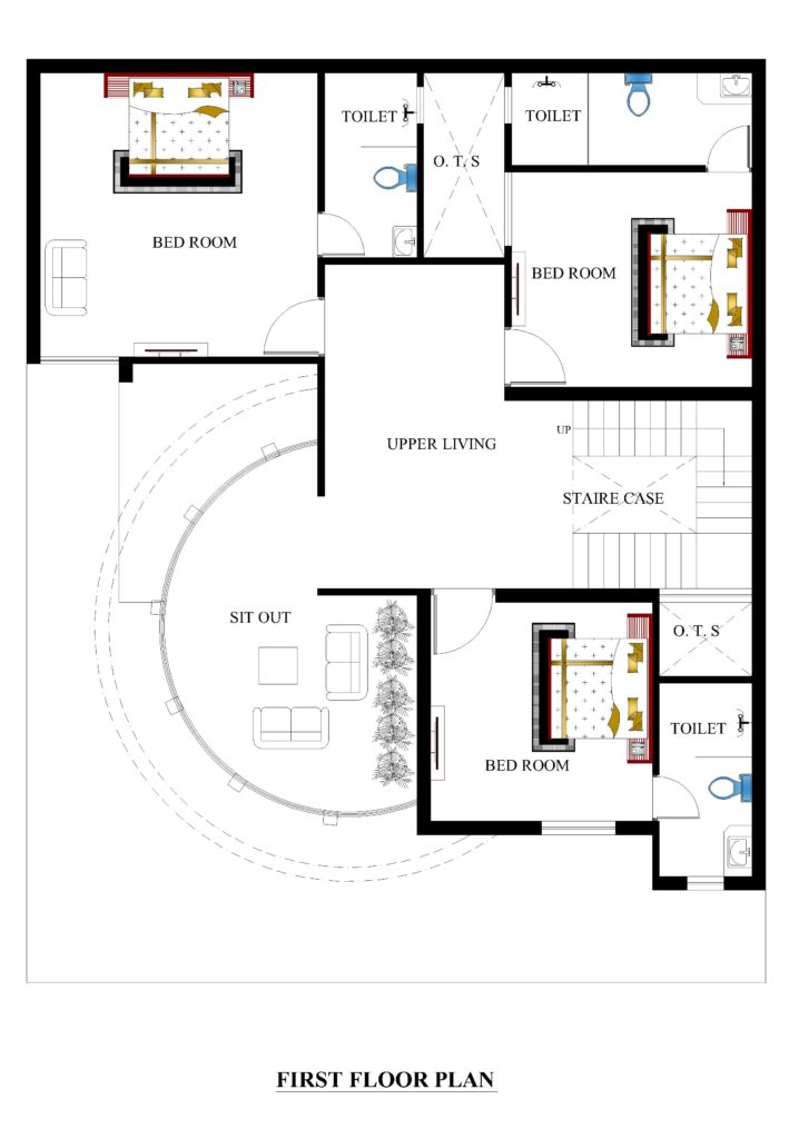40x50-ff-709x1024 Narrow House Plan With Courtyard on narrow house plans with carport, narrow courtyard design, narrow house plans with front porch, narrow house plans with rear garage, narrow house plans with stairs, narrow house plans with balcony, narrow house plans with loft,