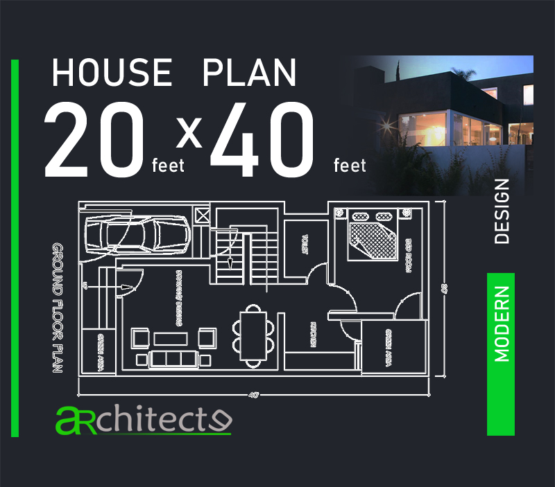 20x40 House Plan House Plans