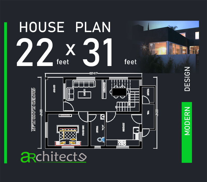 22x31p17  Bedroom House Plans Under X Feet on