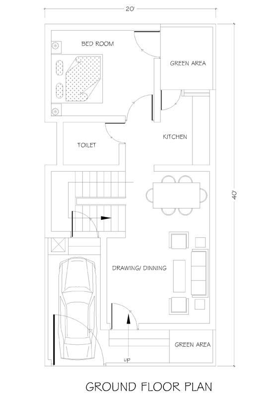 20x40 House Plan House Plans